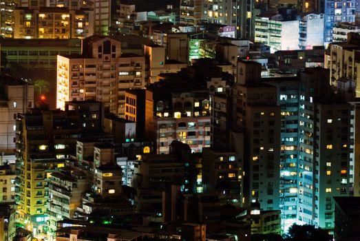 Landscape of city apartments