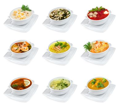Soups isolated