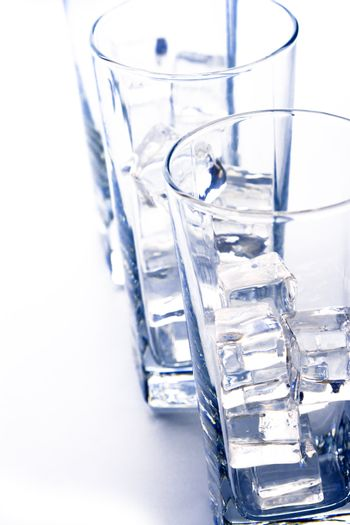 glasses with ice