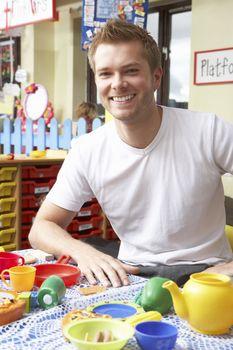 Teacher in nursery school
