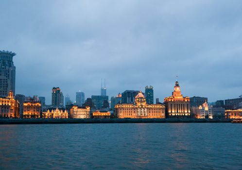 The most popular tourist spot in Shanghai  - The Bund district - Old Part of Shanghai