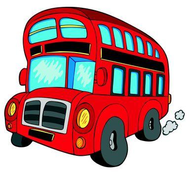Doubledecker bus on white background - vector illustration.
