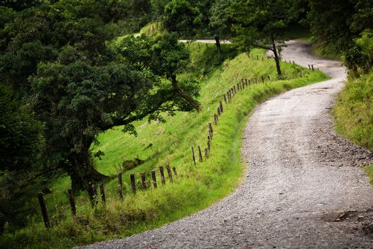 Windy Costa Rica road
