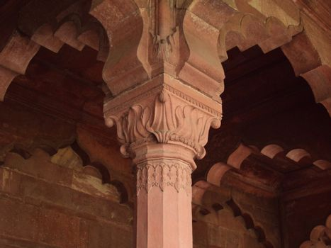 A Pillar inside Red Fort of
