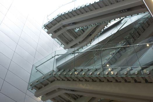 stair in modern building at daytime