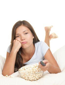Watching boring movie