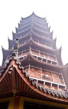 The famous Basita pagoda in Suzhou China