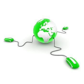 Three Surf the World - Translucent Green