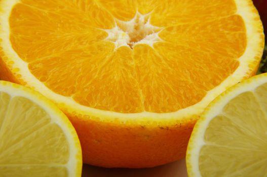 big parts of fruits
