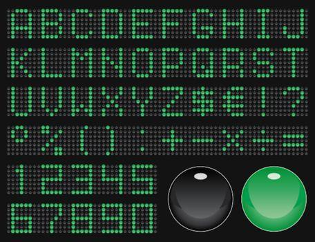 dot-matrix display font (50 characters)