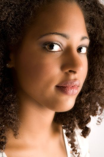 Portrait of a african girl with make-up