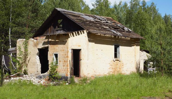 Ruins of ancient rural house
