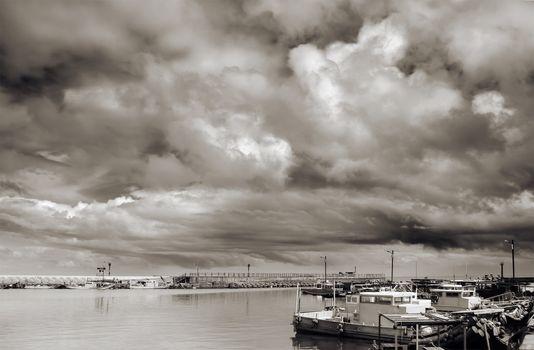landscape of harbor