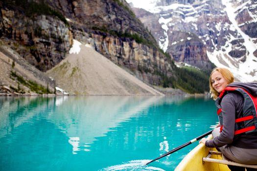 Woman Canoeing Portrait