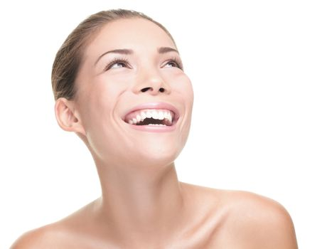 beauty woman laughing