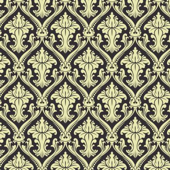 Seamless Damask wallpaper EPS 10 vector file included