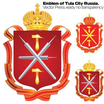 Emblem of City hero Tula. EPS 10 vector file included