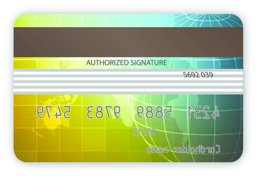 Vector credit cards, back view  EPS 10 vector file included