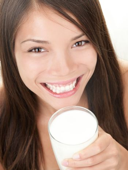 Milk woman drinking milk