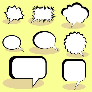 Speech And Thought Bubbles. EPS 10 vector file included