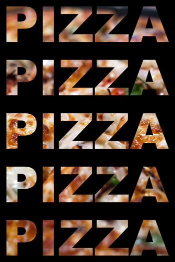 Pizza Word Montage