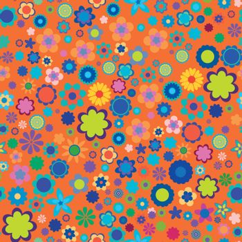 vector. seamless flower pattern EPS 10 vector file included