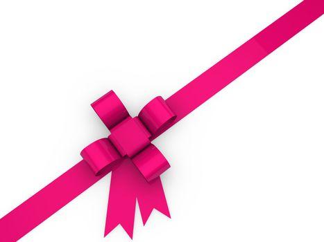 3d loop christmas pink birthday gift ribbon
