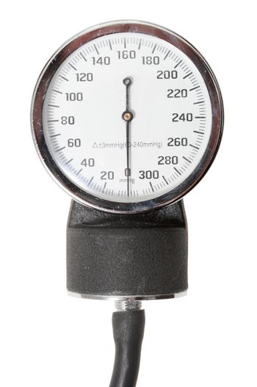 Single indicator for retro sphygmomanometer