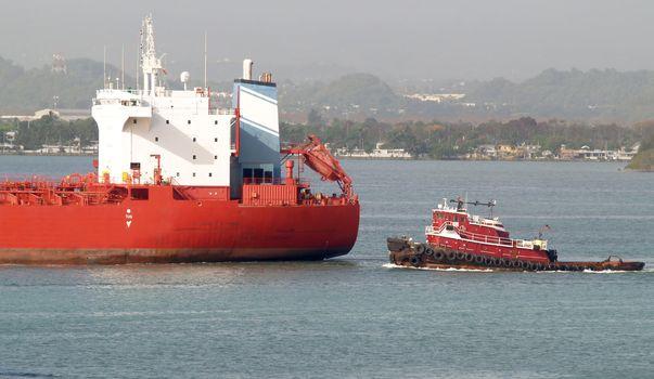 Tug and tanker