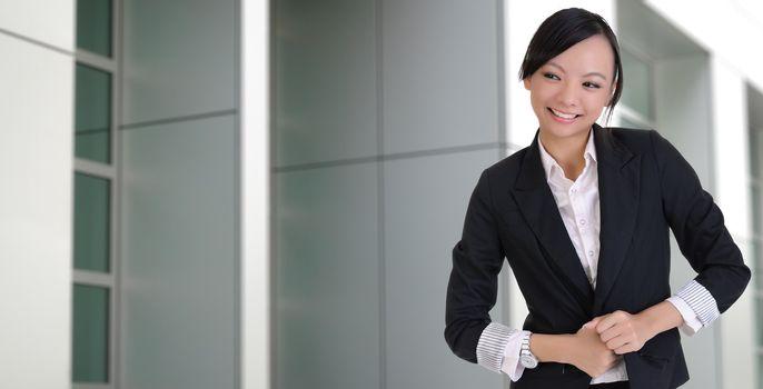Asian lady with joy