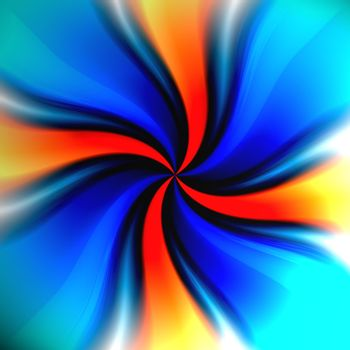 A colorful spiraling vortex background with a variety of colors.