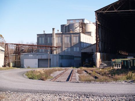 an industrial area