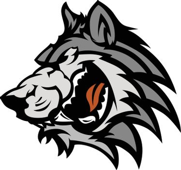 Wolf Mascot Vector Graphic