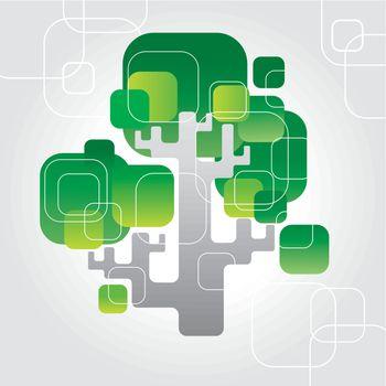 vector techno tree