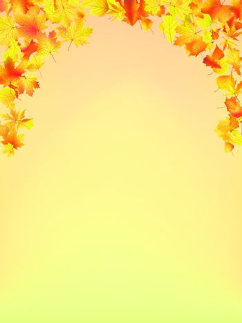 Autumn Fall background. EPS 8 vector file included