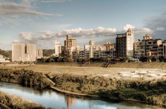 Landscape of town