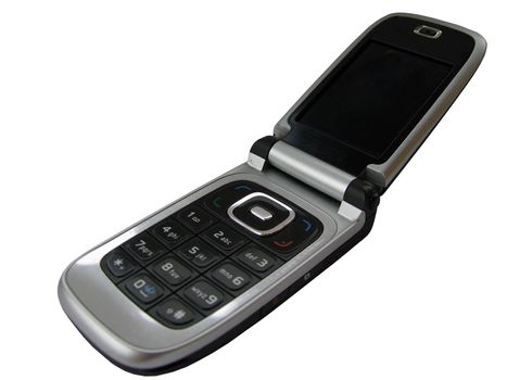 mobilephone against a white background, with clipping path