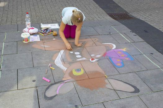 street painting in Geldern, Germany