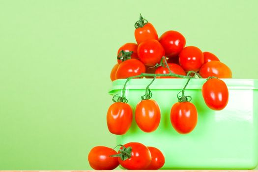 container with fresh tomatoes