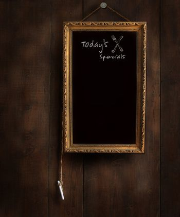 Old chalkboard with copyspace for writing menu