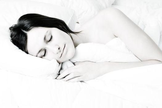 Sleeping bright woman