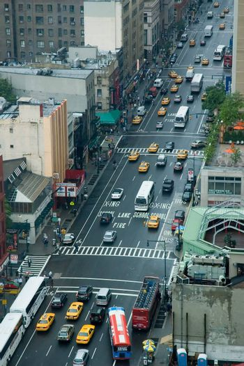 Traffic on 8th Avenue, New York City. Taken june 2006