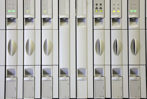 Compartments in cellular cabinet