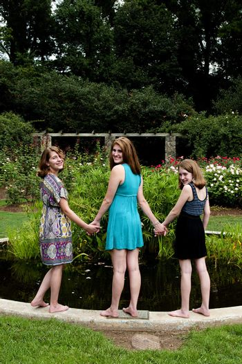 Young teenage sisters and the best of friends