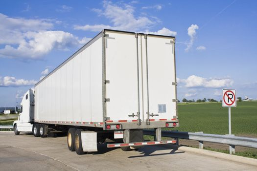 Parked Semi-Truck