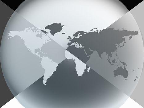 earth globe graphic halo