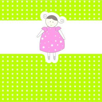 Baby arrival card. Vector illustration