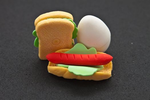 Food, It is made from an eraser.