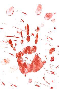 Bloody Handprint with Splatter