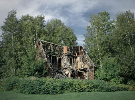 Ruins of abandoned rural house